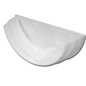 Half-Round Gutter Stop End Int (White) | Half-Round Gutter Stop End Ext (White) | Guttering | PVC Gutter | PVC Rainwater Goods | Faster Plastics