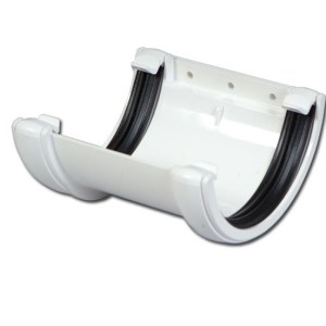 Half-Round Gutter Union Bracket (White) | Guttering | PVC Gutter | PVC Rainwater Goods | Faster Plastics