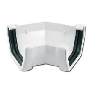 Square Gutter Angle 135 Deg (White) | Guttering | PVC Gutter | PVC Rainwater Goods | Faster Plastics