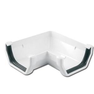 Square Gutter Angle 90 Deg (White) | Guttering | PVC Gutter | PVC Rainwater Goods | Faster Plastics
