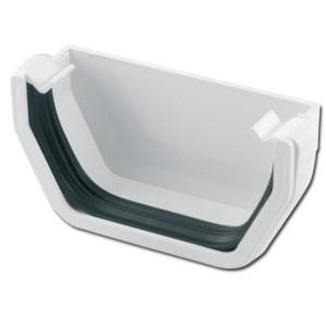 Square Gutter Stop End Ext (White) | Guttering | PVC Gutter | PVC Rainwater Goods | Faster Plastics