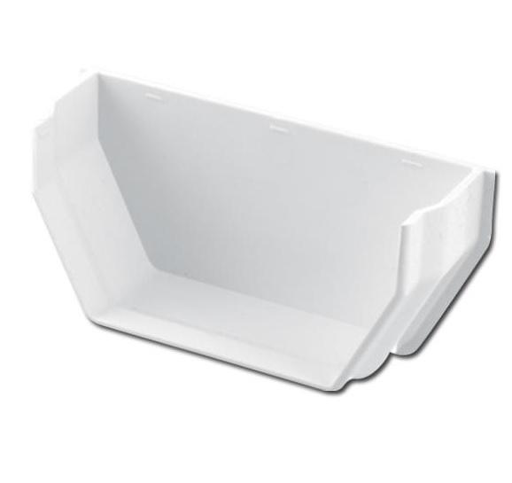 Square Gutter Stop End Int (White) | Guttering | PVC Gutter | PVC Rainwater Goods | Faster Plastics