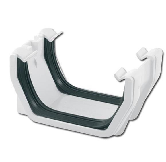 Square Gutter Union Bracket (White)   Guttering   PVC Gutter   PVC Rainwater Goods   Faster Plastics