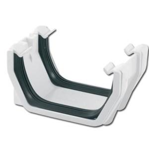 Square Gutter Union Bracket (White) | Guttering | PVC Gutter | PVC Rainwater Goods | Faster Plastics