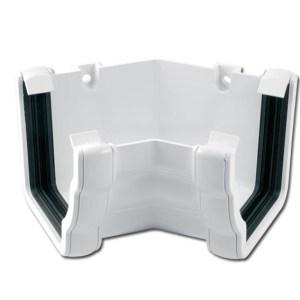 Ogee Gutter Angle Int 135 Deg (White) | Guttering | PVC Gutter | PVC Rainwater Goods | Faster Plastics