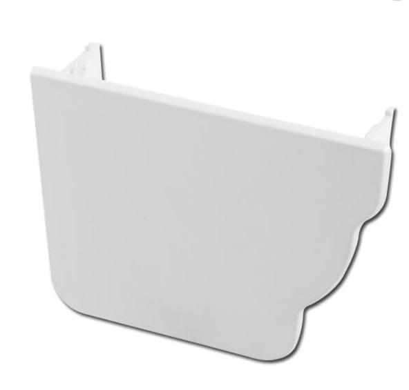 Ogee Gutter Stop End Int LH (White) | Guttering | PVC Gutter | PVC Rainwater Goods | Faster Plastics