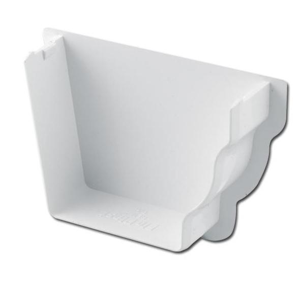Ogee Gutter Stop End Int RH (White) | Guttering | PVC Gutter | PVC Rainwater Goods | Faster Plastics
