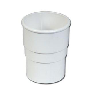 Round Downpipe Socket (White) | Guttering | PVC Gutter | PVC Rainwater Goods | Faster Plastics
