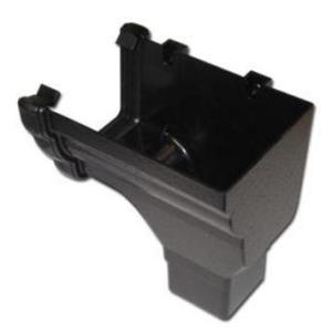 Cast Iron Effect Gutter | Ogee Gutter Stop End Outlet RH | Faster Plastics