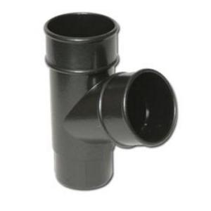 Cast Iron Effect Gutter | Round Downpipe Branch 112 Deg | PVC Gutter | Faster Plastics