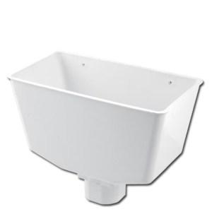 SquareRound Downpipe Hopper Head (White) | Guttering | PVC Gutter | PVC Rainwater Goods | Faster Plastics