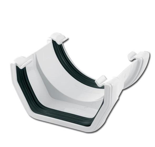 SquareRound Gutter Adptr (White) | Guttering | PVC Gutter | PVC Rainwater Goods | Faster Plastics