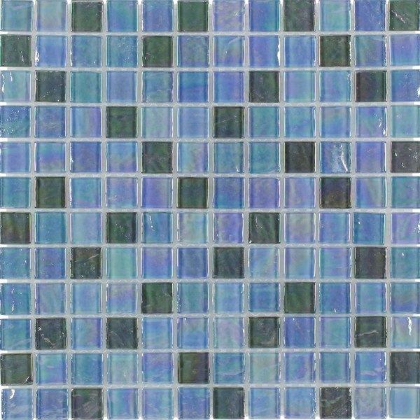Iridescent Glass Tile Aqua