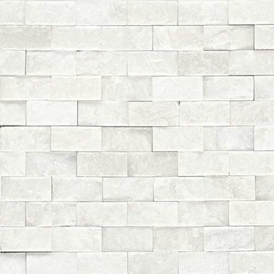 Daltile Marble Split Face Mosaic First Snow Elegance