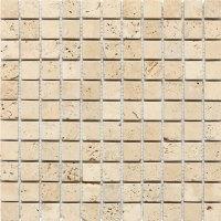 Daltile Travertine Natural Stone Tumbled Mosaics 1 x 1 ...