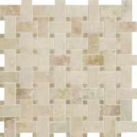Daltile Travertine Natural Stone Unique Shapes Mosaic ...