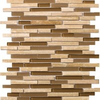 Emser Tile Lucente Glass and Stone Linear Mosaic Blend ...