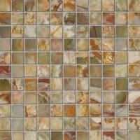 MS International Onyx Stone Mosaic 1 x 1 Tile & Stone Colors