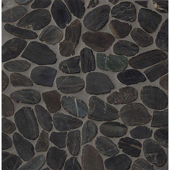 Bedrosians Hemisphere Sliced Pebble Mosaic Polished Tile