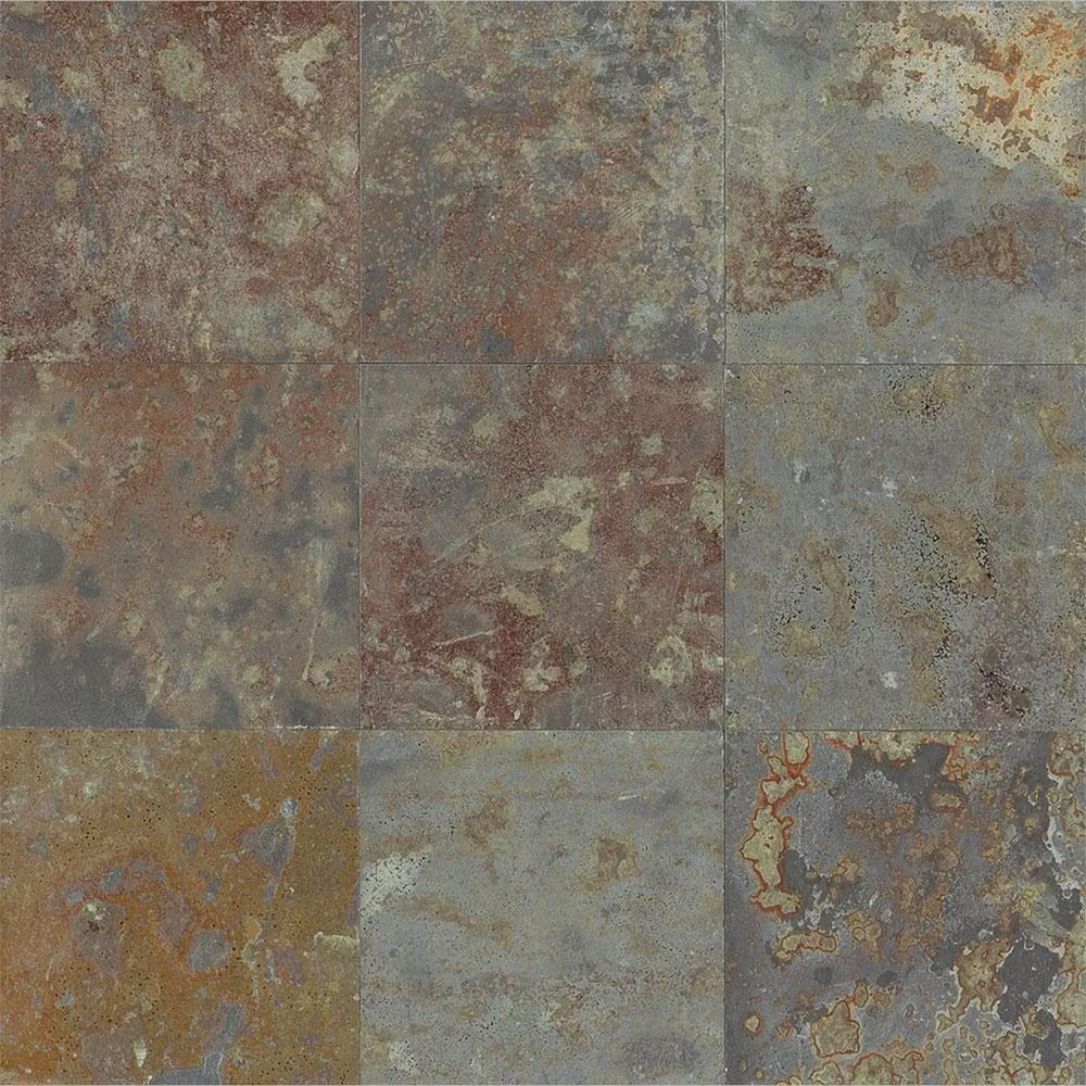 Tilecrest Slate Stone 12 x 12 Brazilian Multicolor Gauged