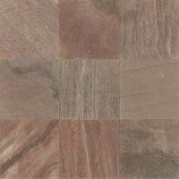 Tilecrest Slate Stone 16 x 16 Copper Gauged Polished