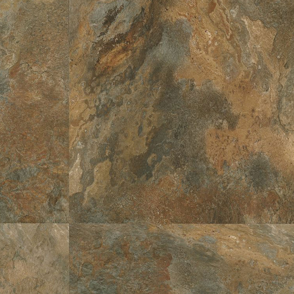 Armstrong Luxe Tile Fastak 18 x 18 Lexington Slate Multi Color