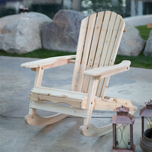 lounge chair towel covers wooden bar stool chairs patio porch all weather indoor / outdoor natural adirondack rocking | fastfurnishings.com