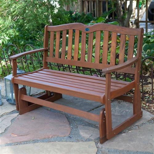4Ft Outdoor Patio Garden Loveseat Glider Chair in