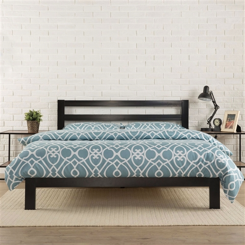 King Size Heavy Duty Metal Platform Bed Frame With