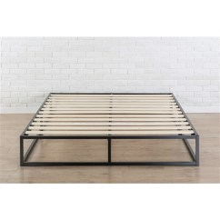 Living Room Settee Benches Feng Shui Colors For King Size Modern 10-inch Low Profile Metal Platform Bed ...