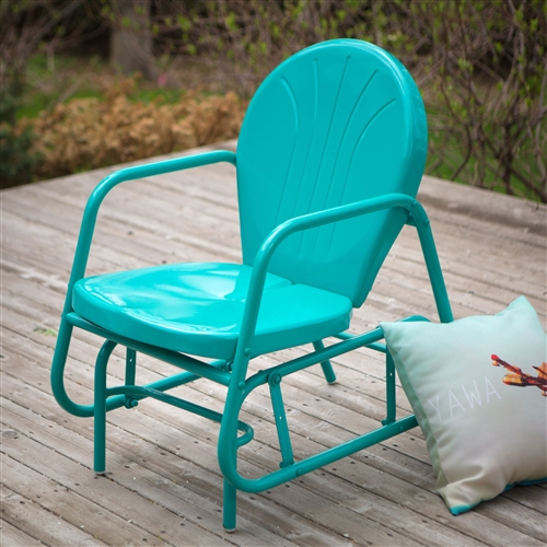 metal glider sofa antique designs india aqua teal turquoise blue outdoor retro modern classic ...