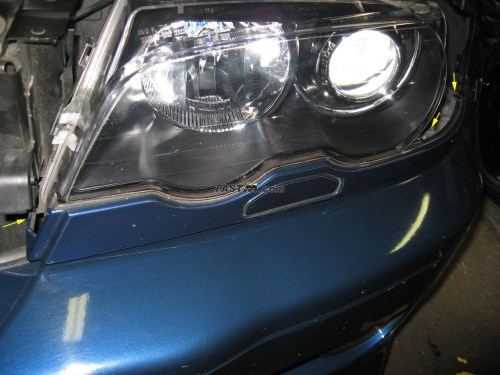 small resolution of that should give you enough clearance if you do not have the headlight washer it s up to you if you want to remove it entirely or just tilt it out