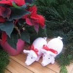 Hæklet gris til julepynt (hækleopskrift)