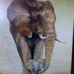Animal Painting Full , 5D Diamond Painting Elefant