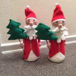 Julemand med juletræ (hækleopskrift)