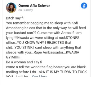 Mzbel Dares Afia Schwarzenegger To Reveal Any Dirty Secret About Her. 4