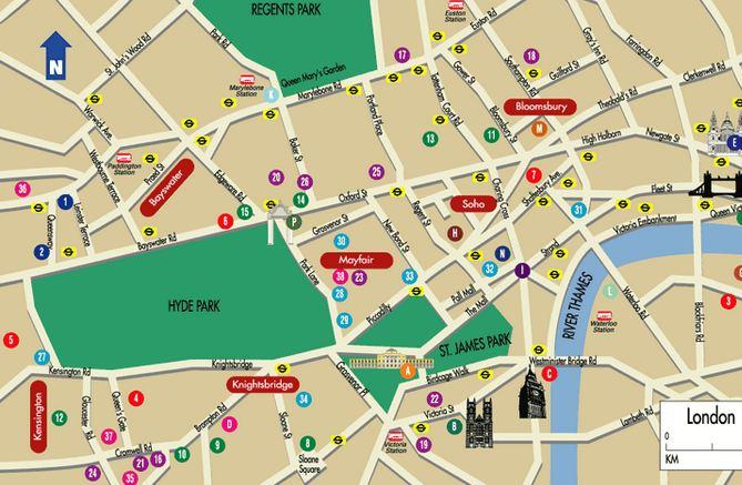 Mapa Cidade Londres Fast Pass Viagens