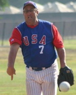 Dave Blackburn, pitcher, ISC Hall of Famer and pioneer in the world of men's fastpitch.
