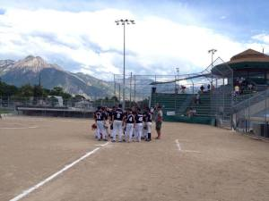 The Wasatch Mountains provide a picturesque backdrop for the Pioneer Days Tournament in Salt Lake City, Utah (click to enlarge)