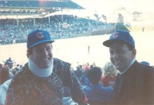 Bob (left) and Jim Flanagan at Wrigley Field, 1990.