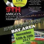9th Annual Amigos Tournament – San Francisco Bay Area – Nov. 11-12, 2017