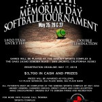 20th Annual Memorial Day Men's and Women's Fastpitch tournament – May 25-27, 2018 – Soboba