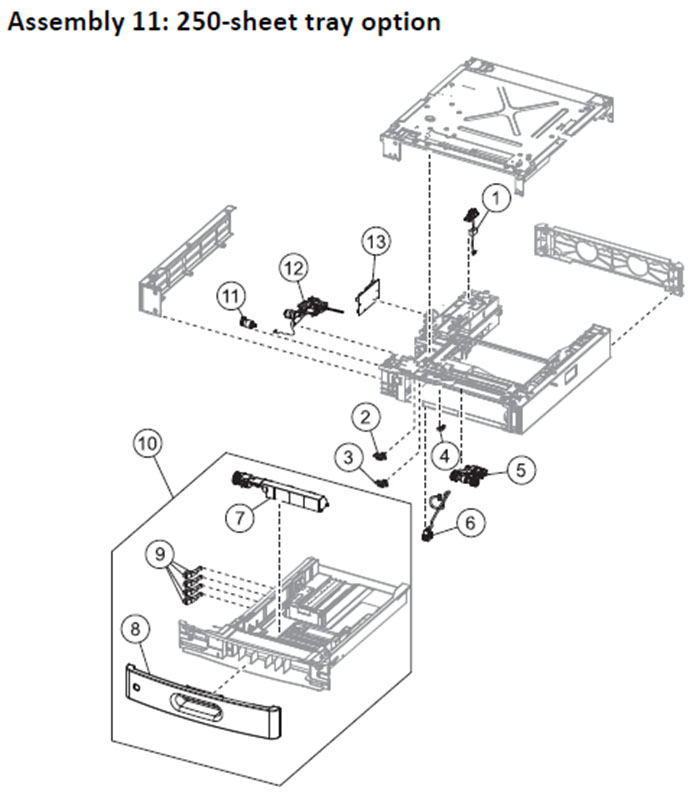 Lexmark MS710 MS711 MS810 MS811 MS812 MS817 Laser Printer