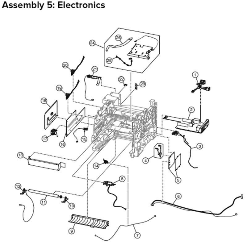 Lexmark MX710 MX810 Laser Printer Repair Parts 24T7407 7463