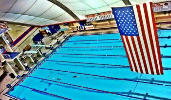 O'Connell Center with Flag