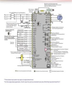 Delta Inverter VFD drive VFD007B21A 1Phase 220V 075KW 1HP