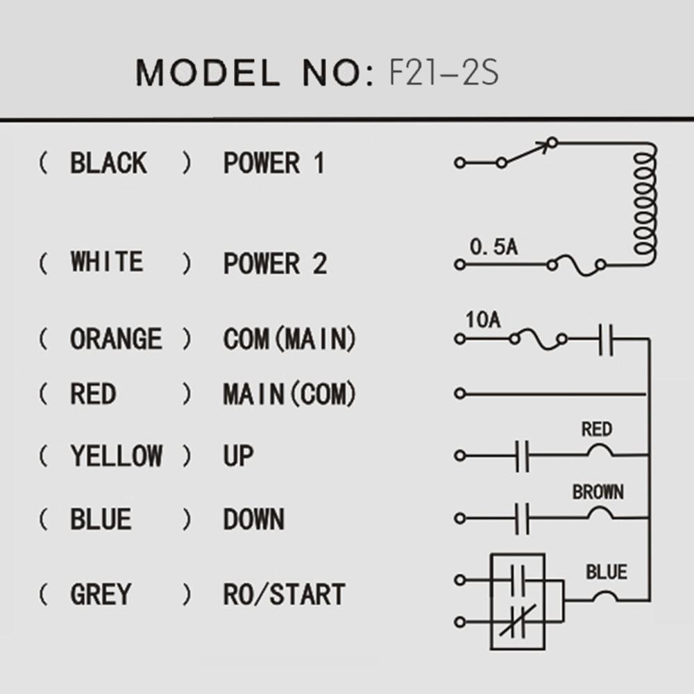 2 buttons: 2Transmitter+1 Receiver 65~110V~440V radio