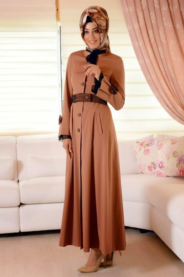 ملابس محجبات تركية شتاء 2014