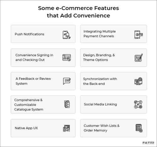 Some e-commerce features that add convenience
