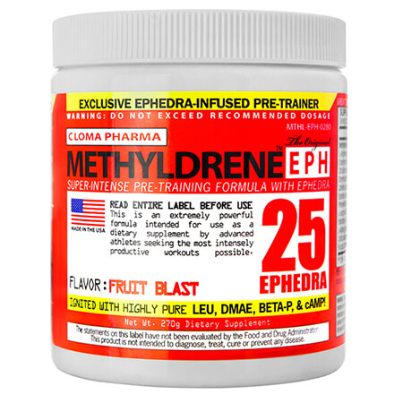 Clomo Pharma Methyldrene EPH 25 Ephedra. ECA Stack Clomo Pharma Methyldrene EPH 25 Ephedra for bodybuilding, fitness & sports. ECA Stack Methyldrene Ephedra
